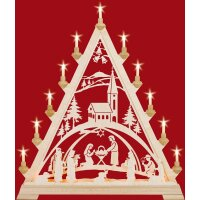 Taulin triangle arch Christi nativity with church - with...