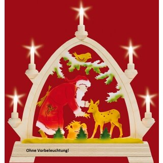 Taulin round arch Santa Claus with deer - without front...