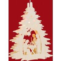 Taulin Fensterbild Christgeburt unterm Baum