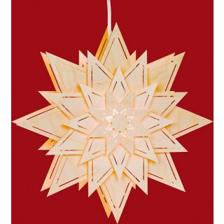 Taulin window picture star with light slots (flower)