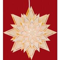 Taulin Fensterbild Stern mit Lichtschlitze (Blume)