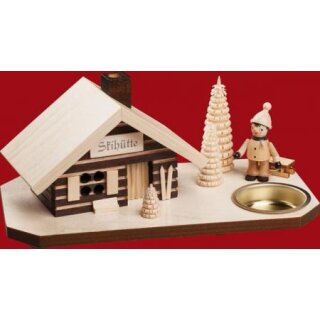 Taulin smoking house ski cottage with sled puller