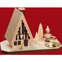 Taulin smoking house forest house with sled puller