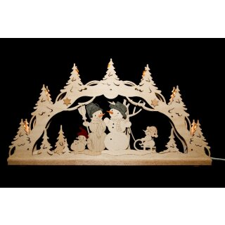 Decor and Design candle arch snowman family 3D