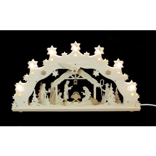Decor and Design candle arch manger motif 3D