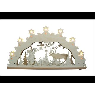 Decor and Design candle arch Santa Claus with reindeer 3D