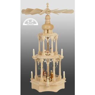Seidel column pyramid with turned manger figures
