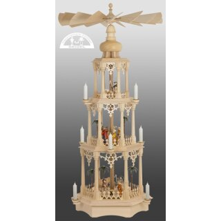 Seidel column pyramid gothic with colored manger figures