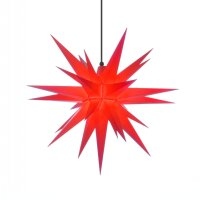 Herrnhut christmas star A7 red with lighting