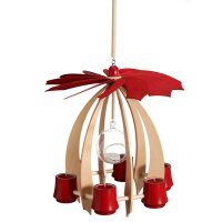 Schalling hanging pyramid Nova ahorn/ ruby red