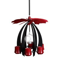 Schalling hanging pyramid Nova anthracite/ ruby red