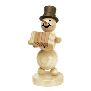 Wagner snowman musician with accordeon