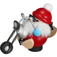 Kugelräucherfigur Biker Nikolaus