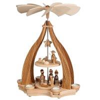 Zeidler Design Pyramide Blende Zebrano mit Christi Geburt