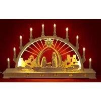 Seidel Schwibbogen Christi Geburt mit LED Beleuchtung