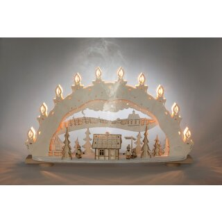 Weigla candle arch winter magic land with integrated...