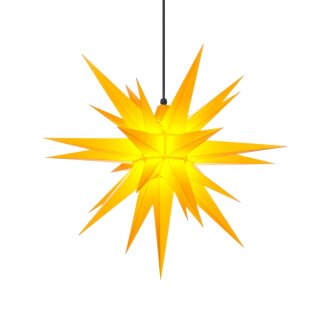 Herrnhut christmas star A7 yellow with lighting