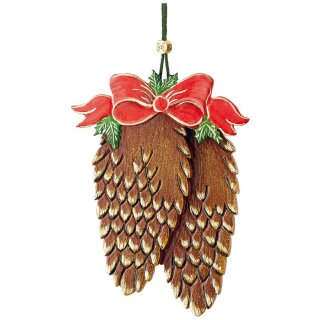 Hubrig tree decoration fir cone with bow