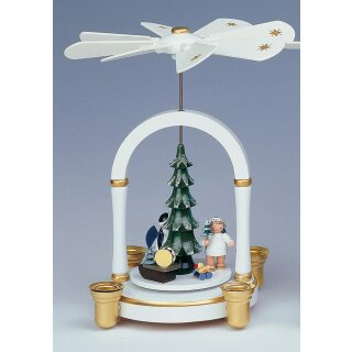 KWO pyramid white-gold angel under the tree