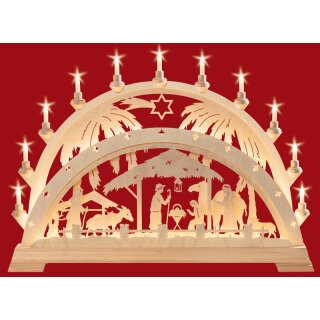 Taulin candle arch Christi nativity with palm trees