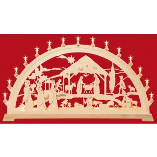 Taulin candle arch XXL Christi nativity with kings