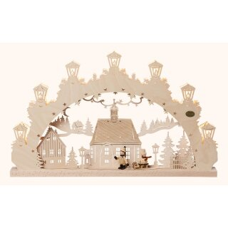 Saico candle arch children with carriage 3D