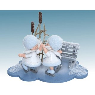 Kuhnert snowflake skater couple on the cloud