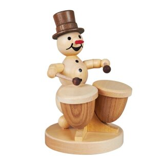 Wagner snowman musician with kettle drum
