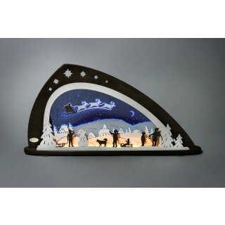 Weigla candle arch LED Santa Claus