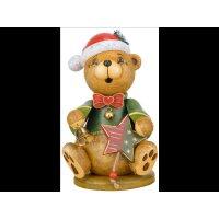 Hubrig smoker miniature Teddy christmas bear