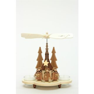 Christian Ulbricht tealight pyramid carolers nature