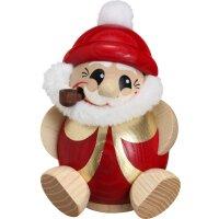 Kugelräucherfigur Nikolaus rot
