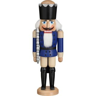 Seiffener Volkskunst eG nutcracker king blue glazed