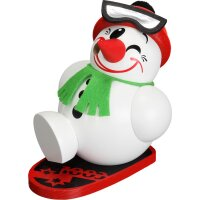 Chubby Smoker Cool-Man with snowboard - new design