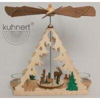 Kuhnert Teelichtpyramide mit Waldtieren