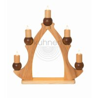 Kuhnert Fensterbaum / Fensterdreieck - 5 Kerzen braun