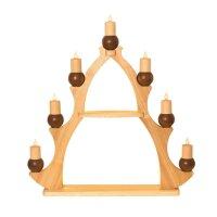 Kuhnert Fensterbaum / Fensterdreieck - 7 Kerzen braun