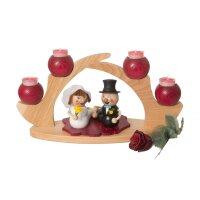 Kuhnert Schwibbogen / Tischleuchter 4 Kerzen rot
