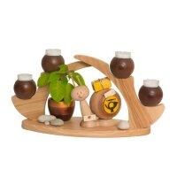 Kuhnert Schwibbogen / Tischleuchter 4 Kerzen braun