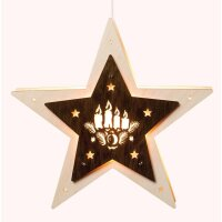 Saico LED window light star with candles