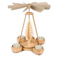 Müller Teelichtpyramide klein mit geschnitzen Rehen