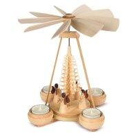 Müller Teelichtpyramide klein mit Engeln
