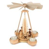Müller tealight pyramid small Christi nativity 1 floor