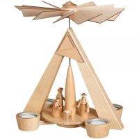 Schalling tealight pyramid Christi nativity nature