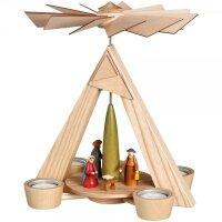 Schalling Teelichtpyramide Christi Geburt natur