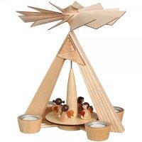 Schalling Teelichtpyramide natur Engelchen