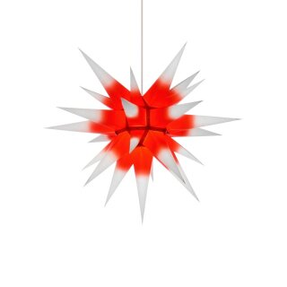 Herrnhut christmas star I6 white with red core - with...