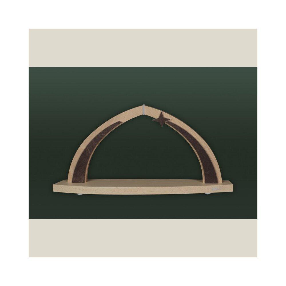 tietze led bogen klein leer inklusive stern lose holzkunst aus dem erzgebirge 100 original. Black Bedroom Furniture Sets. Home Design Ideas