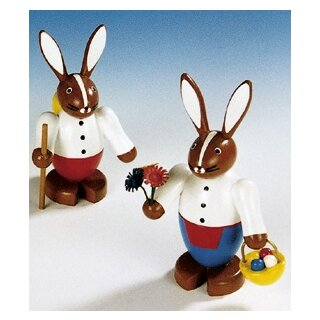 Knuth Neuber rabbit couple big colored