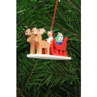 Christian Ulbricht tree decoration angel with reindeer...